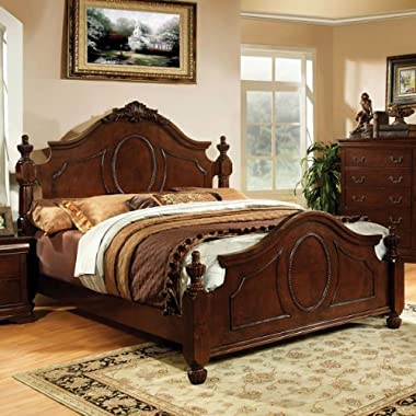 247SHOPATHOME IDF-7952EK Bed-Frames, King, Cherry