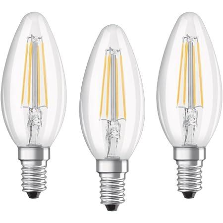 Osram - Lot de 3 Ampoules LED Filament Flamme - Culot E14 - 4 W Equivalent 40 W - Blanc Froid 4000K