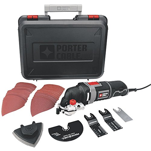 PORTER-CABLE PCE605K 3-Amp Corded Oscillating Multi-Tool Kit with 31...
