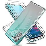 Funda para Xiaomi Redmi Note 10 4G / Note 10S con Dos Cristal Templado Protector de Pantalla, Suave TPU Gel Silicona Anti-caída Protectora Carcasa Phone Case Cover (Transparente 6,43')