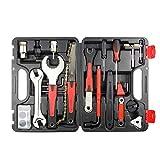 Aosong Kit de herramientas de reparación de bicicleta de 32 piezas, herramienta de reparación de bicicleta, llave de pedal de bicicleta, herramienta multifunción, accesorios para bicicleta de montaña
