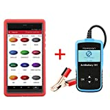 LAUNCH X431 PROS Mini Automotive Diagnostic Tool OBD2 Scanner with WiFi Bluetooth & Topdon ArtiBattery101 Tester