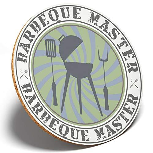 1 x dessous de verre rond BBQ BBQ BBQ BBQ Barbecue Master Chef – Cadeau pour enfants