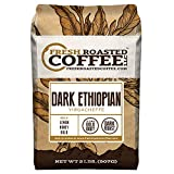 Fresh Roasted Coffee LLC, Dark Ethiopian Yirgacheffe Kochere Coffee, Dark Roast, Whole Bean, 2 Pound Bag