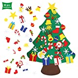 EKKONG Feltro Albero Natale con Ornamenti 30 Pz DIY...