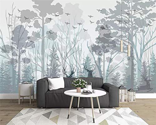 Brauch Mode Modernen Minimalistischen Goldenen Geprägt Linien Floral Wohnzimmer/Schlafzimmer/Tv/Wanddekoration Wandbild,350 * 256Cm