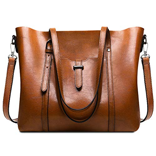 Handbags for Women, URWILL Large Tote Shoulder Handbag, Leather Work Purses and Tote Bags with Shoulder Strap, Top-Handle Satchel and Crossbody Bags