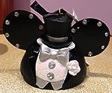 Disney Parks Wedding Groom Mickey Mouse Ears Hat Ornament