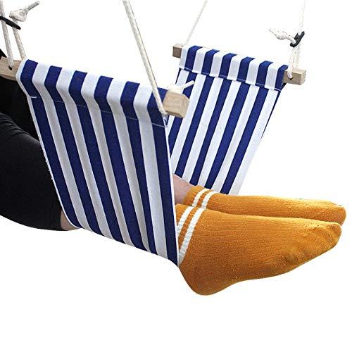 ZFLL Tafel en stoelen, inklapbaar, voor werk, computer, kantoor, voetensteun, mini, draagbaar, comfortabel, ontspannend, verstelbaar, kantoor, hangmat 7