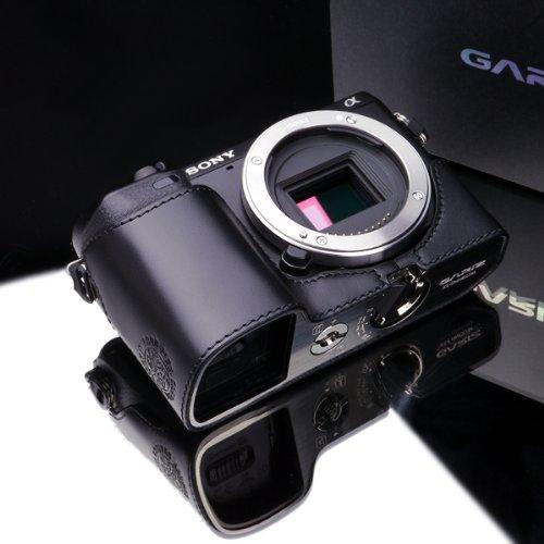 Gariz Genuine Leather XS-CHNEX7BK Camera Metal Half Case for Sony NEX7 NEX-7, Black