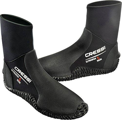 CRESSI Herren Tauch Fusslinge 100% Ultra Span Boots 5mm (no zip), schwarz, 42/44 (L)