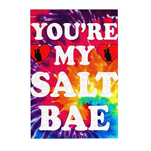 Jigsaw Puzzles You're My Salt Bae Funny Trending Meme Large Wooden Puzzles for Adults 300 Piece