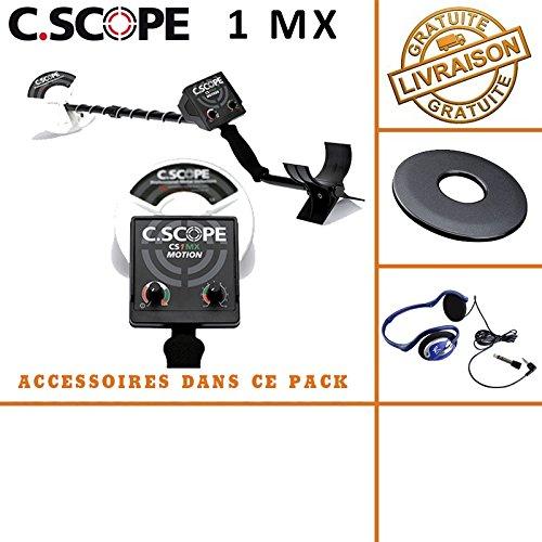 C-scope. Detector de metales CS 1MX con protege disco y casco de audio