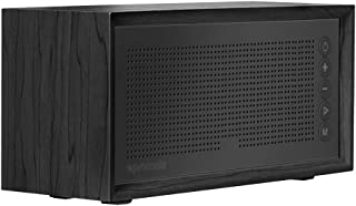 Promate Wireless Speaker, Hi-Fi Bluetooth Powerful 10W Stereo Speaker with Built-In FM Radio, Mic, TF Card Slot, Aux Line, USB Port and Rechargeable Battery for Home, Office, Beach, Harmony Black
