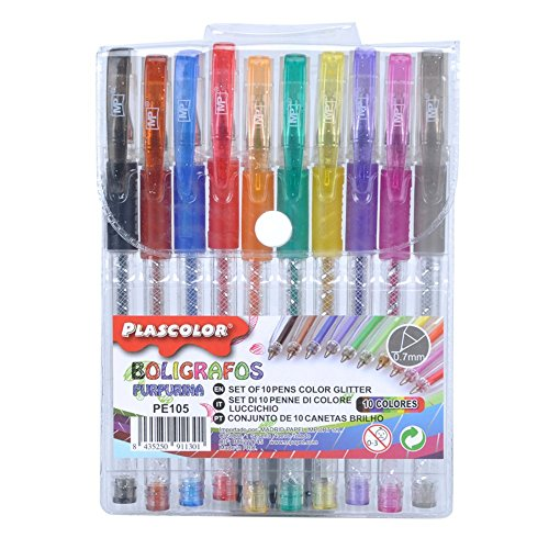Plascolor PE105 - Pack de 10 Pack de 10 boligrafos