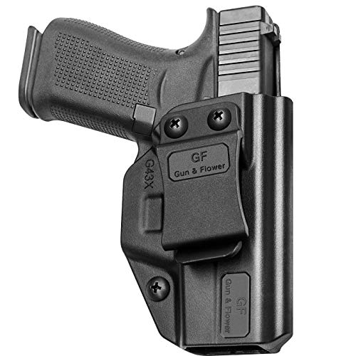 Glock 43 Holster Compatible with Glock 43X, Polymer IWB Glock 43 Holster   Glock 43X Holster, Inside Waistband Concealed Carry for Holster Glock 43, Gun Holster for Men/Women  Adj. Cant & Retention