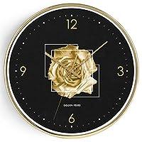 家庭生活12インチ壁掛け時計サイレントノンティックベッドルームリビングルームオフィス読みやすい大型デジタルメタルフレームキッチン時計時計(色:2)