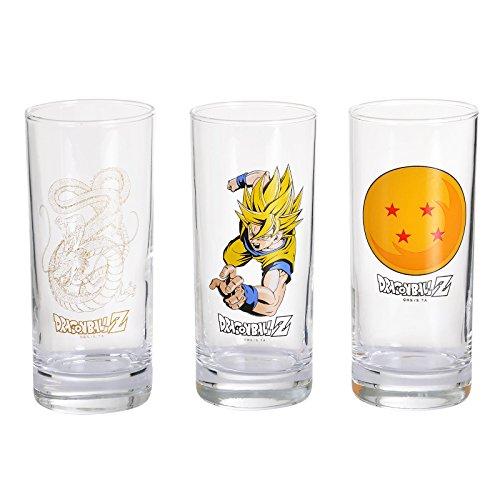 ABYstyle Dragon Ball Gläser, 3 Stück