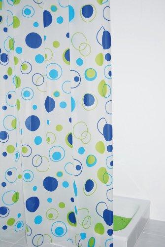 RIDDER Duschvorhang Folie ca. 180 x 200 cm, Kreise