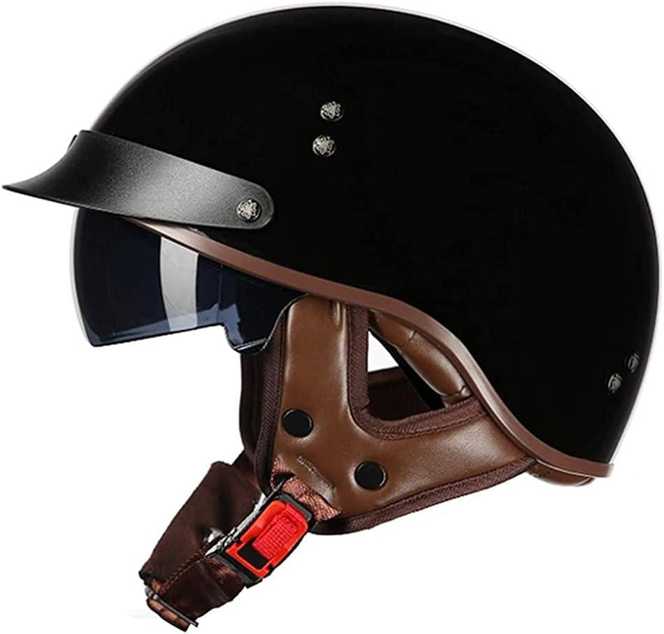 CHICTI Motorcycle Half Helmet sale Max 50% OFF with Men Visor Open-Face Summer Wo