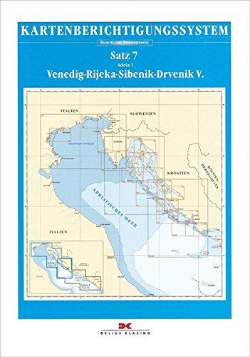 Sportbootkarten-Berichtigung Satz 7 (2018): Adria 1: Venedig - Rijeka - Sibenik - Drvenik V.