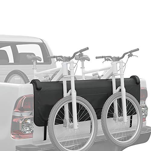 Kacsoo Protezione per portellone del Camion, Protezione per portellone Posteriore per Bici da Strada MTB Supporto per Portapacchi con 5 Cinghie per Telaio Bici sicure, Pad per Pick-up