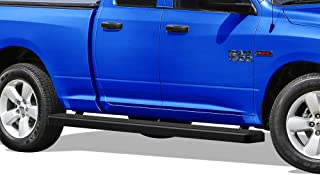 APS Wheel to Wheel Running Boards 5 inches Custom Fit 2009-2018 Dodge Ram 1500 Quad Cab Pickup 6.5ft Bed (Nerf Bars Side Steps Side Bars)