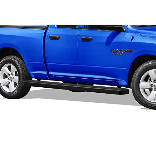 APS Wheel to Wheel Running Boards 5 inches Custom Fit 2009-2018 Dodge Ram 1500 Quad Cab Pickup 6.5ft Bed (09-12 Drilling Required) (Nerf Bars Side Steps Side Bars)