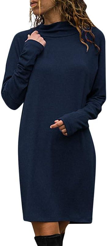 Women S Fleece Long Sweatshirt Dress Hoodie Pullover Casual Long Sleeve Bodycon Mini Sweater Dress
