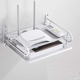 DeeCozy Flytande hylla för TV-komponenter, metallväggmonterad mediakonsol, icke-stansad TV-settop-box hylla för kabelboxa...