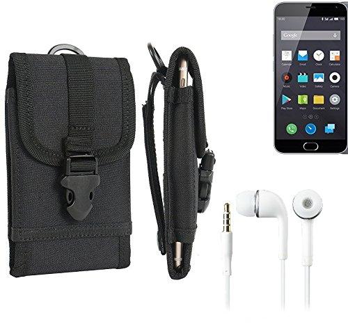 K-S-Trade® Top Set per Nokia 130 Dual SIM Marsupio Custodia Cassa del Telefono Calotta di Protezione Smartphone Sacchetto Holster Cintura Nero Pianura Semplice Eleganza Funzionale Protettiva