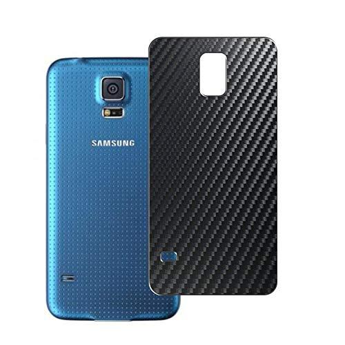 Vaxson 2 Unidades Protector de pantalla Posterior, compatible con Samsung Galaxy S5 Prime, Película Protectora Espalda Skin Cover - Fibra de Carbono Negro