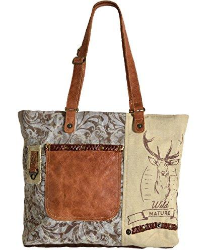 Domelo Tracht Damen Trachtentasche Dirndltasche große Shopper Handtasche Handgelenktasche...