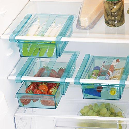 GOURMETmaxx Klemm-Schublade für Kühlschrank, 3er-Set | 20,5 x 15 x 7cm, einfach mit Klemm-Mechanismus einzuhängen, für nahezu jeden Kühlschrank