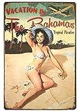 Vacation in The Bahamas Beach Pin up Metallwand Zeichen