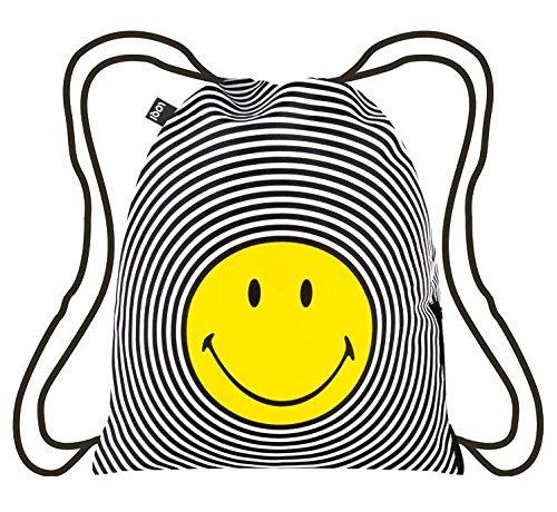 LOQI Artist Smiley Spiral Backpack Rucksack, 44 cm, 10 liters, Mehrfarbig (Multicolour)