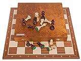 Square - Profesional Ajedrez de Madera S60 Lux - Tablero de ajedrez - Caoba + Figuras - Staunton 6