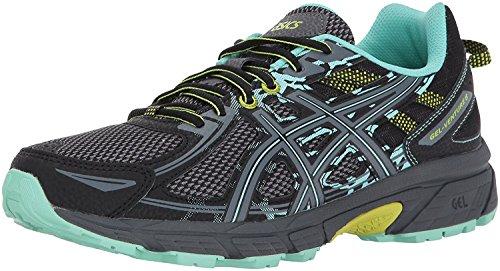 ASICS Women's Gel-Venture 6 Running Shoes, 8.5W, Black/Carbon/NEON Lime