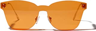 Sunglasses Fashion Accessories One Piece Lens Sunglasses Big Box Personalized Borderless UV Protection for Outdoor Travel (Color : Orange)