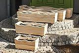 Larisa Pflanzkübel aus Holz, Pflanzkasten, Blumenkasten, Blumenkübel Verschiedene Größe (60x21x20)