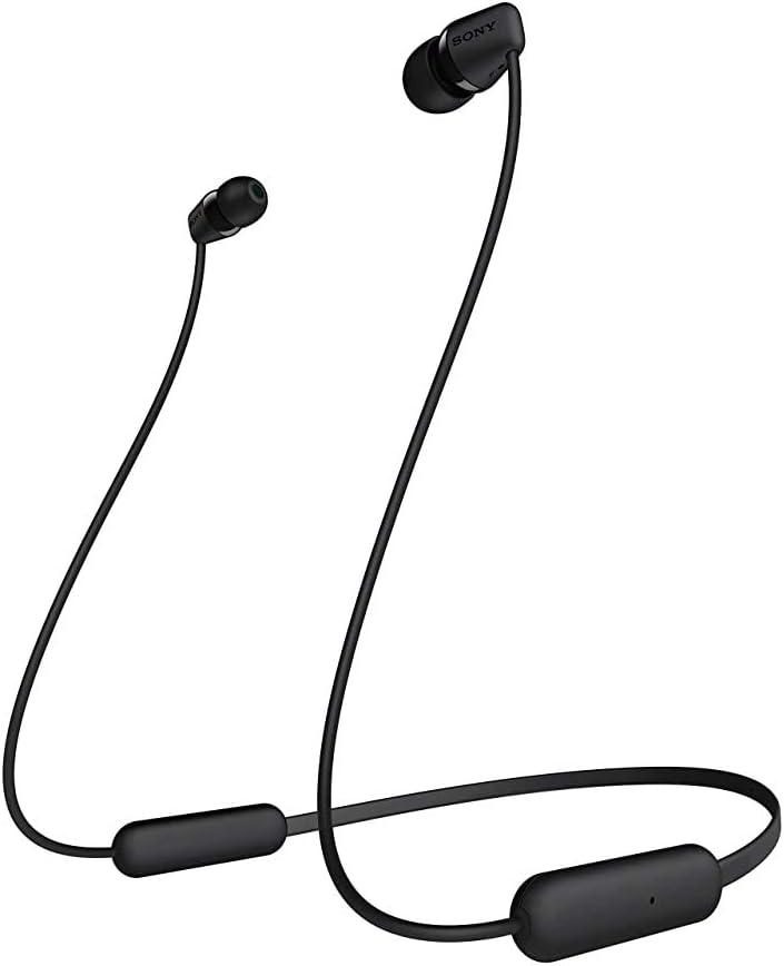 Sony Wi-C200 Wireless in-Ear Headphones, Black (WIC200/B) (Renewed)