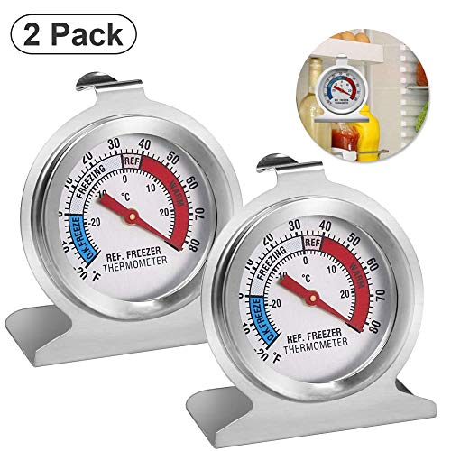 Sunshine smile Gefrierschrankthermometer,kühlschrankthermometer Set,Thermometer rund,eisfach Thermometer,kühlthermometer,Thermometer für kühlschrank gefrierschrank