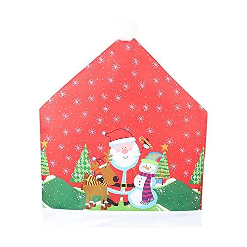 santa fortunata Hundred Fortune Santa Claus Caps - Set da tavolo con rivestimento per schienale