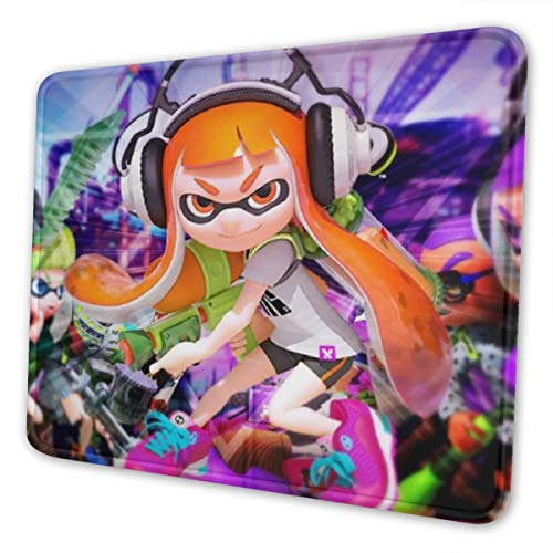 Splat-oon Gaming Mouse Pad Fashion Non-Slip Base Mouse Mat Computer Laptop Mousepad for Home & Office 7 x 8.6 in