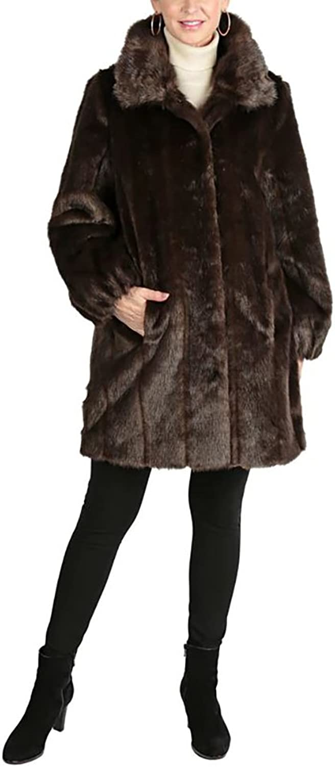 Regal Faux Furs Faux Fur Coat with Shirred Cuffs ,Size 2X