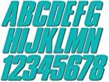Stiffie Shift Candy Blue Super Sticky 3' Alpha Numeric Registration Identification Numbers Stickers Decals for Sea-Doo Spark, Inflatable Boats, Ribs, Hypalon/PVC, PWC and Boats.