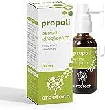 ERBOTECH Propoleo (Propolis) Spray 30 ml,tintura madre extracto puro adecuado para NIÑOS, remedio...