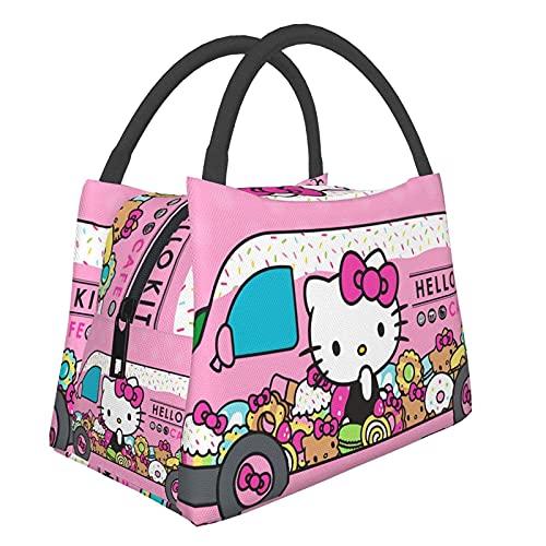 KINGAM Hello Kitty - Bolsa de almuerzo para hombre, bolsa de almuerzo para mujer, bolsa de almuerzo aislada, para hombre y Hello Kitty