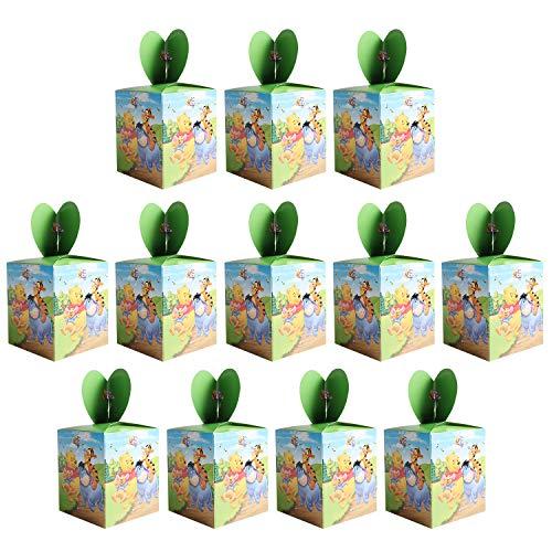 Qemsele Scatole Borse Festa per Bambini, 12 PCS Scatole Caramelle scatole di Regalo Borse Sacca...