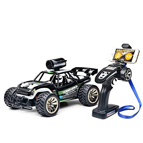 Knmbmg 1:16 High Speed Remote Control Racing Car, 720P WiFi Camera Drift Racing Car Two-Wheel Drive Racing 2.4Ghz Climbing Car RC Vehicle Boy Girls Birthday Toy Halloween Best Gift (Color : Green)